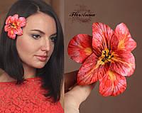 """Заколка цветок """"Коралловая мечта"""", фото 1"""