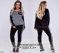 Женский модный спортивный костюм бархат 48-50, 52-54
