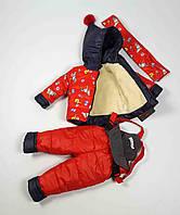 Комбинезон зимний куртка и штаны 660 размеры 1-3 лет размер 80, фото 1
