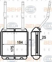 Радиатор печки Opel Vectra A 1988-1995 AC- 1806116