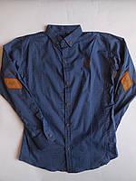 Стильная подростковая рубашка с длинным рукавом для мальчика р-р 11-15 лет
