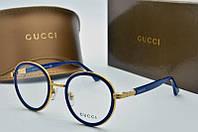 Оправа круглая Gucci синяя , фото 1