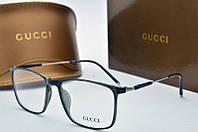 Оправа прямоугольная Gucci прозрачная темного цвета, фото 1