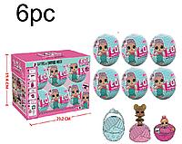 Кукла-сюрприз ( L.O.L Surprise 21404) упаковка 6 шариков, фото 1