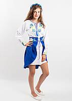 Женский вышитый гладью костюм ВОЛОШКОВІ МРІЇ размеры  140, 146, 152, 158