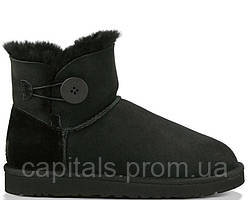 "Женские сапоги UGG Bailey Button Mini ""Black"""
