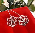 Серьги Розы серебро - Серебряные серьги Роза, фото 3