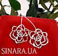 Серьги Розы серебро - Серебряные серьги Роза, фото 4