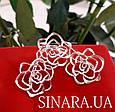 Серьги Розы серебро - Серебряные серьги Роза, фото 7
