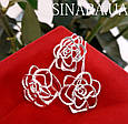 Серьги Розы серебро - Серебряные серьги Роза, фото 5