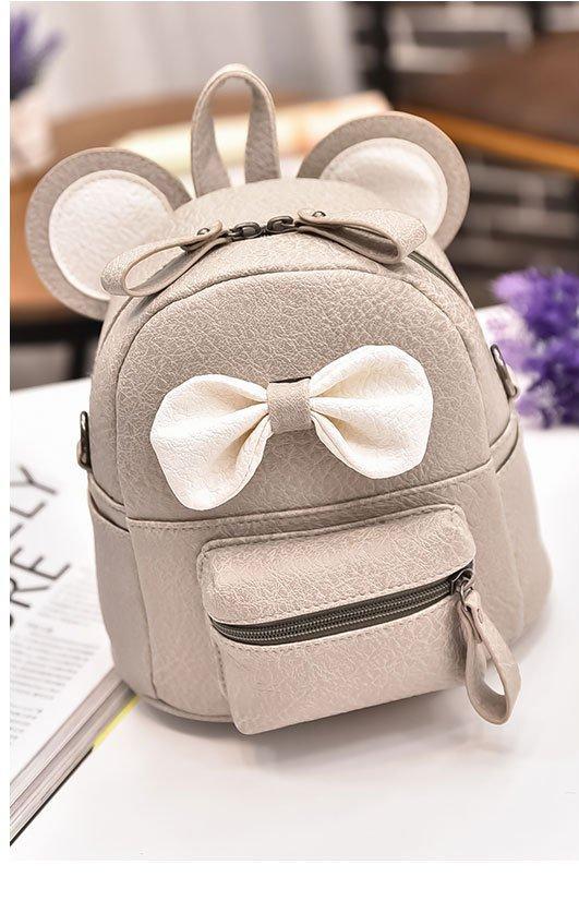 Маленький портфель детский Микки серый