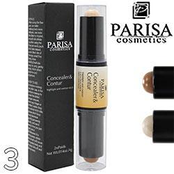 Parisa - Контур-консилер 2х-сторон. CH-04 хайлайтер и контур Тон 03 матовый перл.