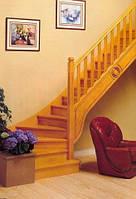 Лестница с забежными ступенями на 90о