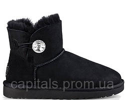 "Женские сапоги UGG Bailey Button Mini ""Bling Black"""