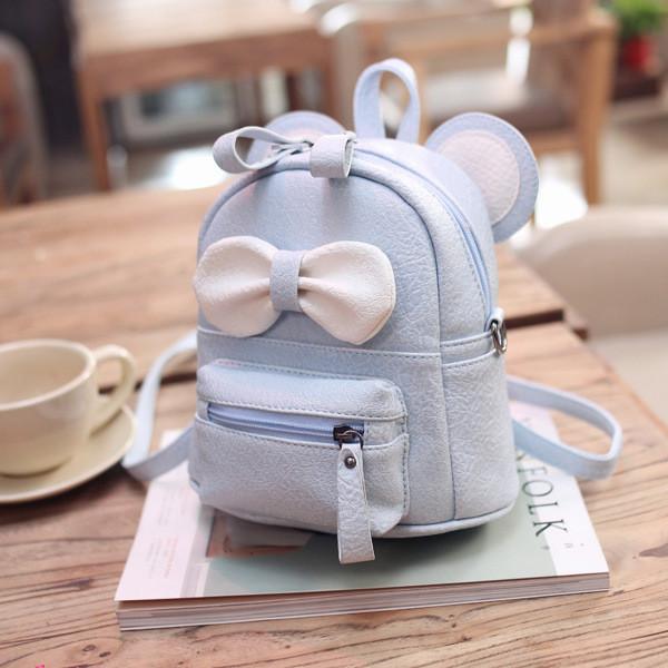 Маленький рюкзак детский Микки голубой
