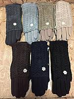 Вязание шерсти Трикотаж женские перчатки/женские перчатки только оптом