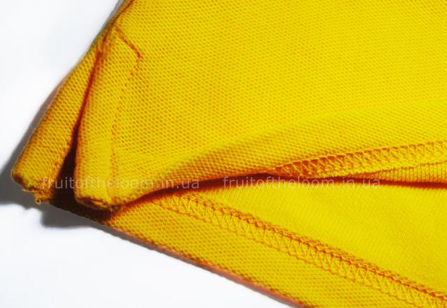 Солнечно-жёлтое женское поло 65/35