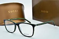 Оправа прямоугольная Gucci черная с салатовым, фото 1