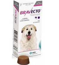 Жувальна таблетка BRAVECTO БРАВЕКТО від бліх та кліщів для собак 40 - 56 кг 1 табл.
