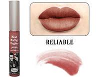 матовая помада Meet Matt(e) Hughes® Long Lasting Liquid Lipstickот theBalm  оттенок Reliable