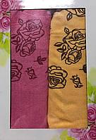 Набор лицевых полотенец рисунок розы 1410/7