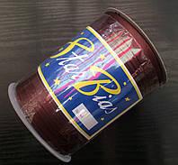 Косая бейка атласная, 15мм, цвет шоколад/100м в бобине