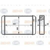 Радиатор печки Opel Omega A 1986-1994 245*160 1843103