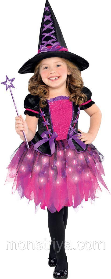 Карнавальний костюм милою чарівниці Хеллоуїн Світиться