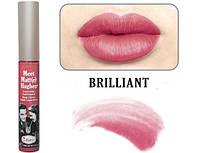 матовая помада Meet Matt(e) Hughes® Long Lasting Liquid Lipstick от theBalm  оттенок Brilliant