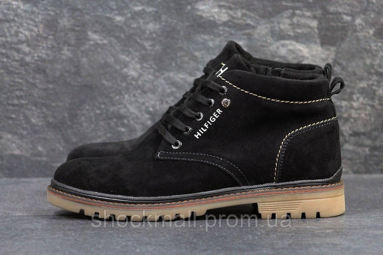 Купить Зимние ботинки мужские Tommy Hilfiger черные реплика недорого ... 459240880f786