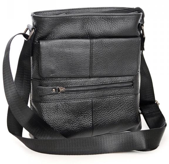 Мужская кожаная сумка 7812 Black.Купить сумки оптом и в розницу дёшево в  Украине 12db58b73f3