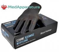 Перчатки нитриловые неопудренные черные NITRYLEX BLACK