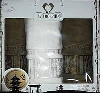 Подарочный набор бамбуковых полотенец в коробке - Bamboo towel 2*50х90+70х140 oliva