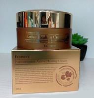 Питательный ферментированный крем для лица Deoproce Fermentation Active Healing Cream, оригинал