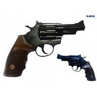 Револьвер под патрон Флобера Alfa 431 (черный/дерево)