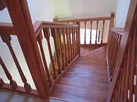 Лестница с забежными ступенями на 180о (П-образная)