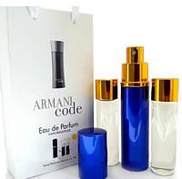 Набор с феромонами - Armani Black Code (3×15 ml)