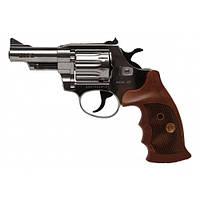 Револьвер под патрон Флобера Alfa 431 (никель/дерево)