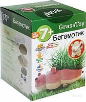 Набор для творчества травяная игрушка Бегемотик Grass Toy Softik