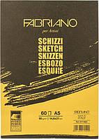 Склейка для экскизов Schizzi Sketch A5 14,8x21 см 90 г/м² 60 листов Fabriano