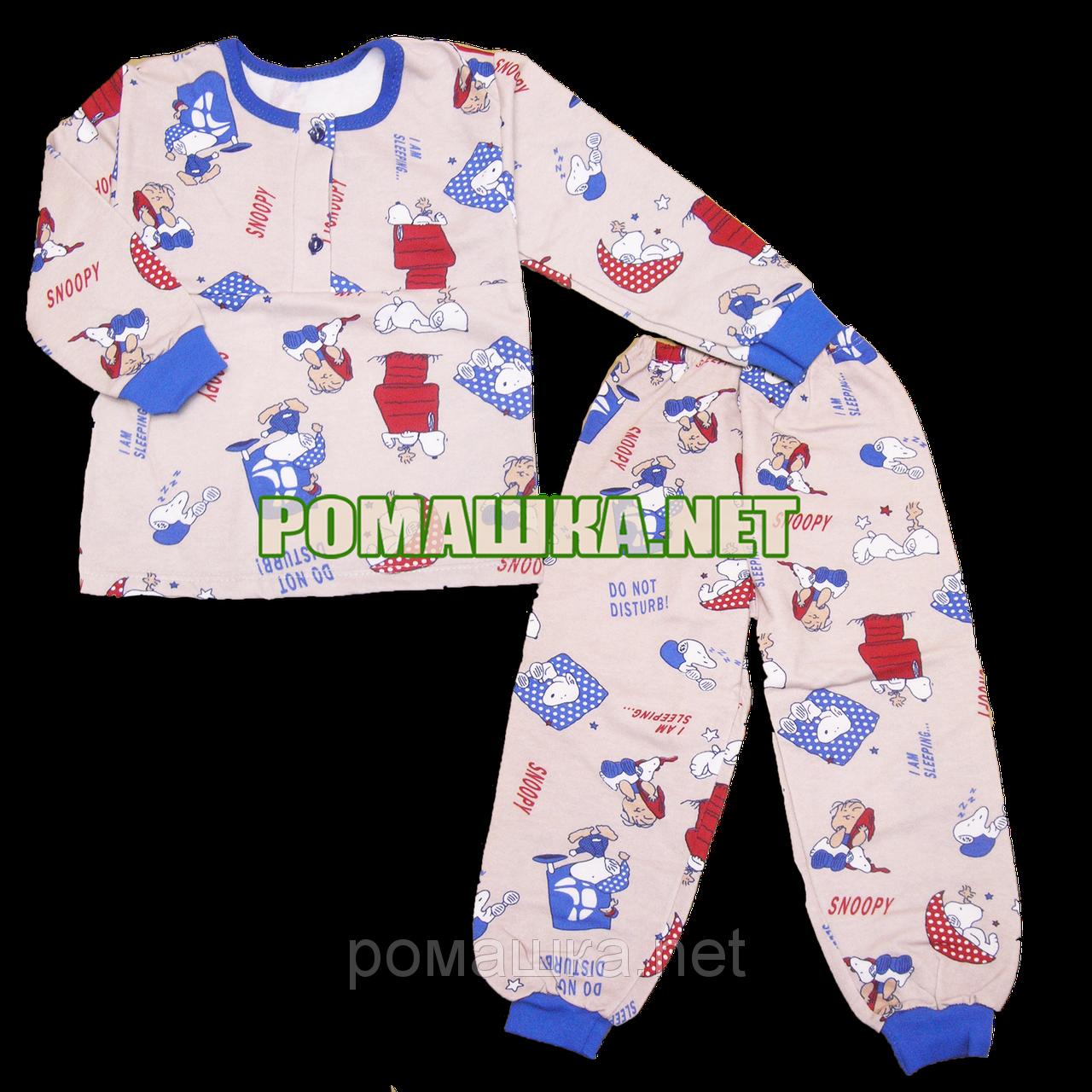 21cdfd046a5a Байковая пижама для новорожденного р. 80-86 с начесом ткань ФУТЕР 100%  хлопок