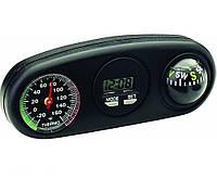 Автомобильные часы термометр компас К-0065 King