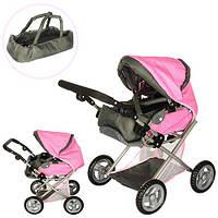 Коляска детская для кукол Melogo 65826 розовая с сумкой для переноски