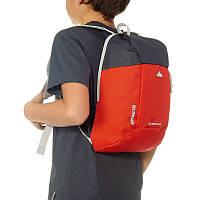Рюкзак детский маленький 5 литров оранжево-серый