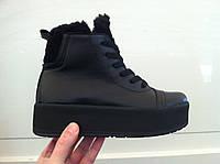 Ботинки женские замша кожа черные и бордо код 256