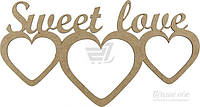 Набор заготовок Рамка Sweet Love, 2 шт. Rosa Talent