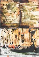 Бумага для декупажа Венеция  30,8х44 см, 45 г/м2