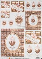Бумага для декупажа Шоколадное настроение  30,8х44 см, 45 г/м2