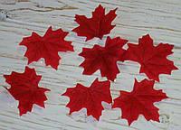 Осенний листочек малиново-вишневый 7 см 1 шт