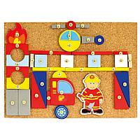 Игровой набор с молоточком - Пожарники, 168 дет., 82197,  Bino